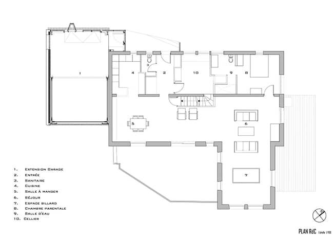 Extension architecture contemporaine